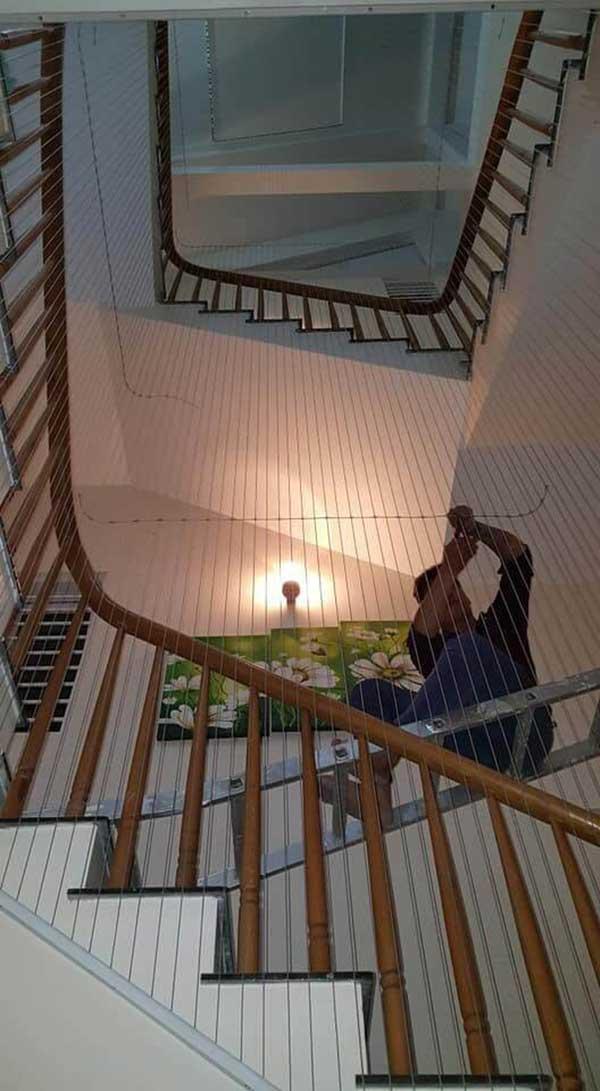 Cấu tạo của lưới bảo hiểm cầu thang