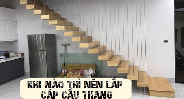 lắp đặt cáp cầu thang hoà phát
